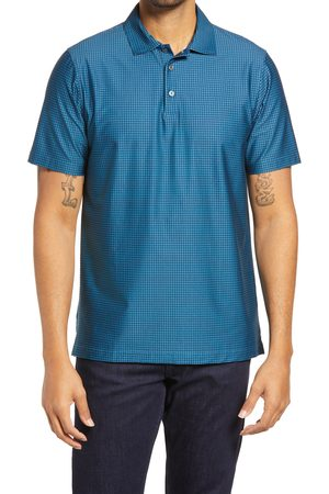 Bugatchi Men's Ooohcotton Tech Houndstooth Stretch Polo