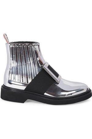 Roger Vivier Women's Viv Rangers Metallic Chelsea Boots - - Size 41 (11)