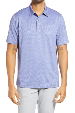 Cutter & Buck Men's Forge Stretch Wave Print Polo Shirt