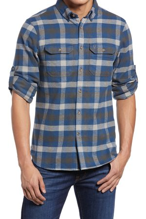 Fjällräven Men's 'Skog' Trim Fit Plaid Sport Shirt