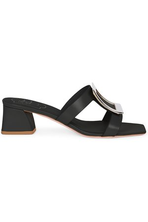 Roger Vivier Women's Bikiviv Leather Mules - - Size 39 (9)