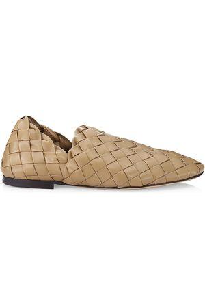 Bottega Veneta Men's The Slipper Intreccato Leather Slip-On Loafers - - Size 46 (13)