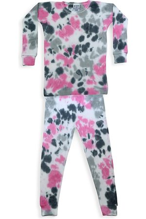 Baby Steps Baby's, Little Girl's & Girl's Eva 2-Piece Tie-Dye Thermal Pajama Set - - Size 18 Months