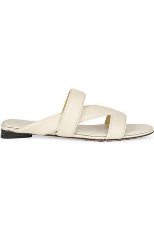 Bottega Veneta Women's Band Flat Leather Sandals - - Size 39.5 (9.5)