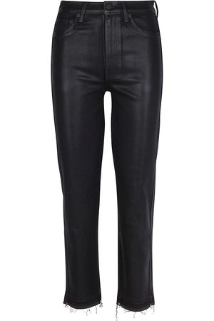 7 for all Mankind Women's High-Rise Crop Straight Jeans - - Size 29 (6-8)