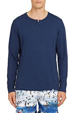 Orlebar Brown Men's Ackley Henley T-Shirt - - Size Large