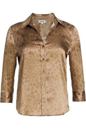 L'Agence Women's Dani Three-Quarter Sleeve Silk Blouse - - Size XS