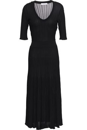 CASASOLA Woman Ribbed-knit Midi Dress Size 36