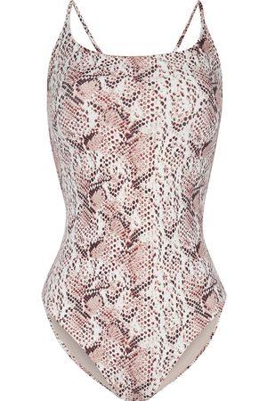 SKIN Woman The Alexis Snake-print Swimsuit Animal Print Size L