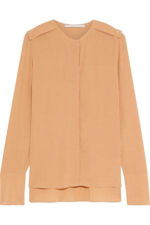 Stella McCartney Woman Murchison Silk Crepe De Chine Blouse Neutral Size 36