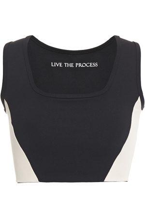 LIVE THE PROCESS Woman Transcend Stretch-supplex Sports Bra Size L