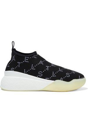 Stella McCartney Woman Loop Monogram Jacquard-knit Slip-on Sneakers Size 35