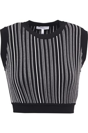 CASASOLA Woman Eugenia Cropped Striped Jacquard-knit Top Size 38