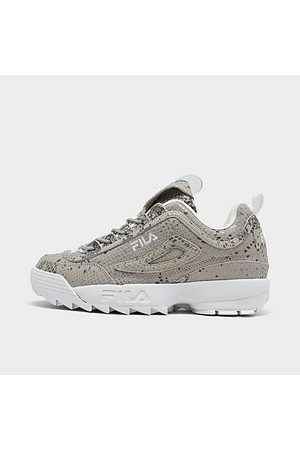 Fila Women Casual Shoes - Women's Disruptor 2 Snake Print Casual Shoes in Grey Size 6.0 Leather