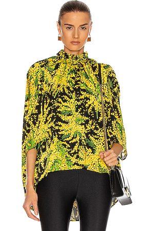 Balenciaga Draped Top in , ,Floral
