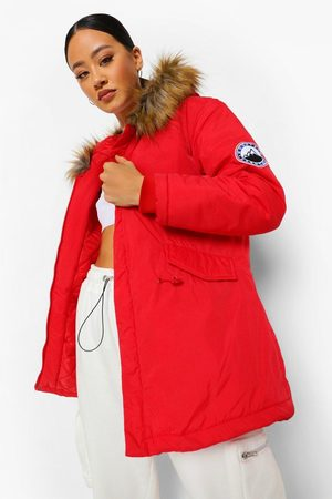 Boohoo Women Parkas - Womens Luxe Faux Fur Sporty Parka - - 4