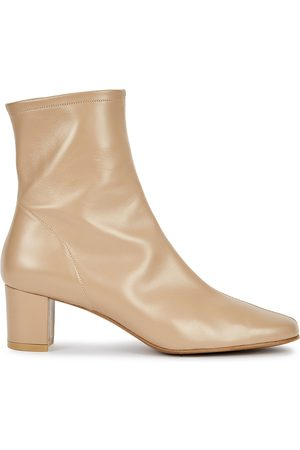 By Far Women Ankle Boots - Sofia 65 taupe leather ankle boots