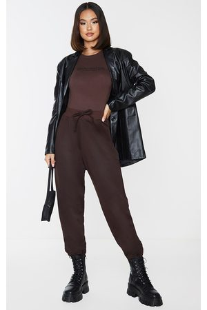 PRETTYLITTLETHING Chocolate Ultimate Marl Sweat Joggers