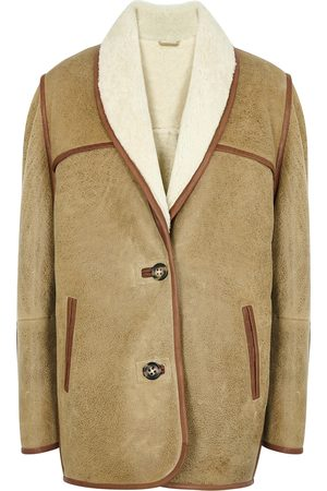 Isabel Marant Anawa brown shearling coat
