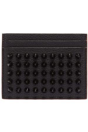 Christian Louboutin Kios Cone-stud Leather Cardholder - Womens