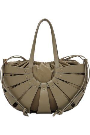 Bottega Veneta Women Shoulder Bags - Md Demi Lunette Leather Shoulder Bag