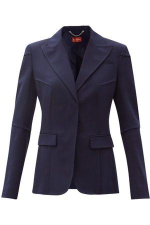 Altuzarra Women Blazers - Beatrix Single-breasted Tropical-wool Blend Jacket - Womens - Navy