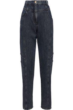 Alberta Ferretti Women High Waisted - High Waist Cotton Denim Pants