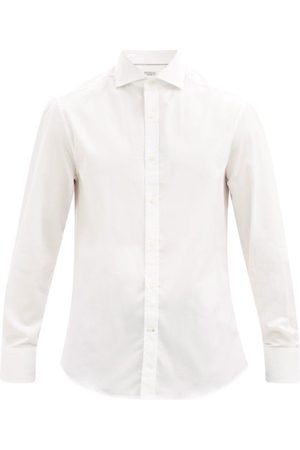 Brunello Cucinelli Men Casual - Cotton-poplin Shirt - Mens