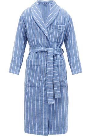 Tekla Striped Organic-cotton Terry Bathrobe - Mens - Light