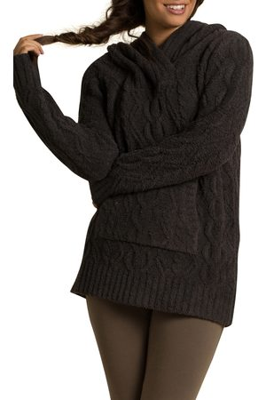Barefoot Dreams Women's Barefoot Dreams Cozychic(TM) Zigzag Cable Knit Hoodie