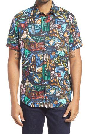 Robert Graham Men's The Basilica Short Sleeve Button-Down Shirt