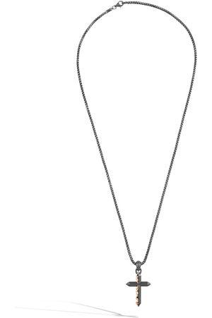 John Hardy Men Necklaces - Classic Chain Keris Dagger cross two-tone necklace