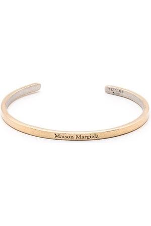 Maison Margiela Women Bracelets - Logo-engraved cuff