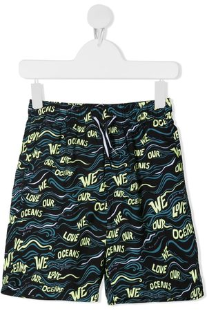 Molo Nario wave-print swim shorts