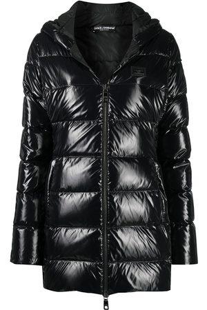 Dolce & Gabbana High-shine padded coat