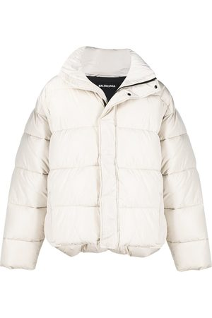 Balenciaga BB oversized-fit puffer jacket - Neutrals