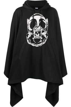 KTZ Graphic-print asymmetric cape