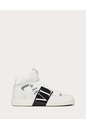 VALENTINO GARAVANI Men Sneakers - Mid-top Calfskin Vl7n Sneaker With Bands Man / 100% Pelle Di Vitello - Bos Taurus 39