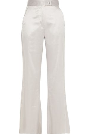 Acne Studios Woman Satin Flared Pants Stone Size 32