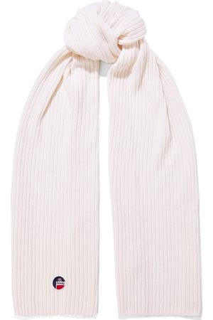 Fusalp Woman Griaz Ii Ribbed Merino Wool And Cashmere-blend Scarf Ivory Size