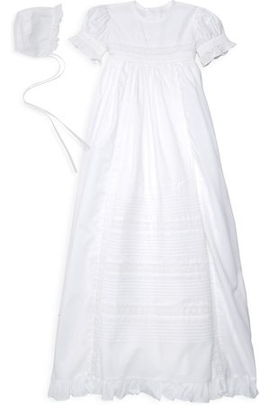 Kissy Kissy Baby Girl's Two-Piece Christening Gown & Bonnet Set - - Size 6-12 Months