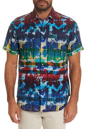 Robert Graham Men's Cul De Sack Classic-Fit Short-Sleeve Floral Plaid Sport Shirt