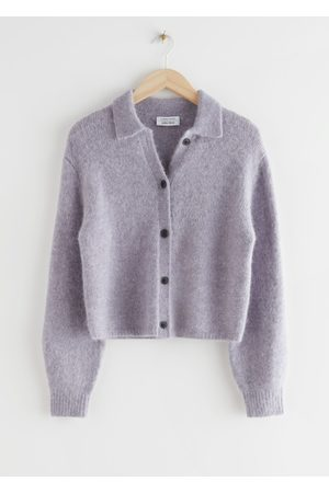 & OTHER STORIES Wool Blend Tortoise Button Cardigan