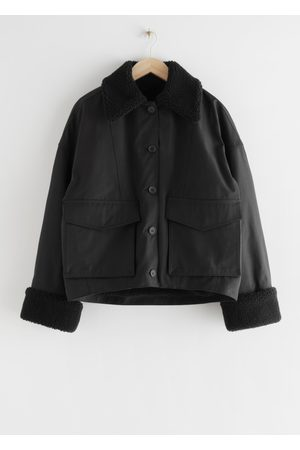 & OTHER STORIES Buttoned Boxy Faux Fur Sherpa Jacket