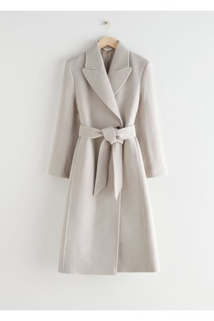 & OTHER STORIES Belted Fitted Recycled Wool Coat