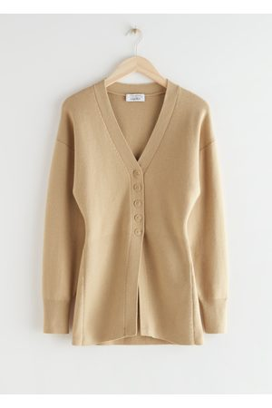 & OTHER STORIES Long Sculptural Knit Cardigan