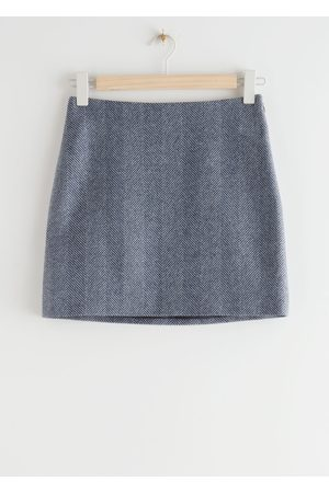 & OTHER STORIES Wool Blend Mini Pencil Skirt