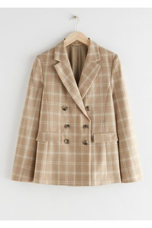 & OTHER STORIES Wool Blend Plaid Blazer