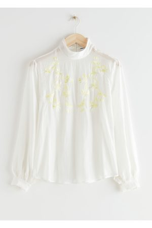 & OTHER STORIES Sheer Relaxed Embroidery Blouse