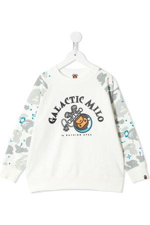 A BATHING APE® Milo Camo printed sweatshirt